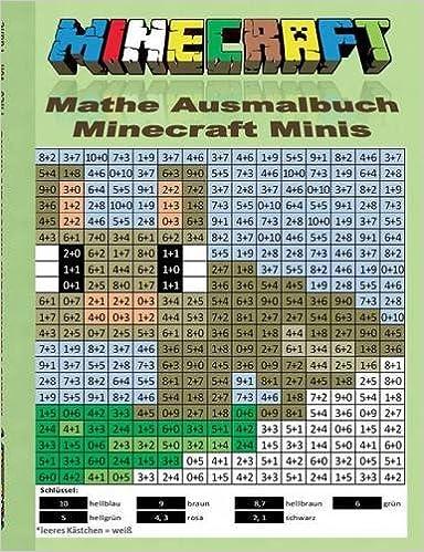 Book Minecraft Mathe Ausmalbuch - Minecraft Minis