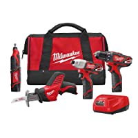 Milwaukee M12 12-V Lithium-Ion Cordless Combo Tool Kit Deals
