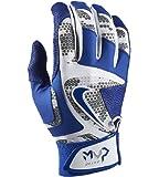 Nike MVP Elite Adult Baseball Batting Glove GB0401 White/Game Royal/Wolf Grey (S)
