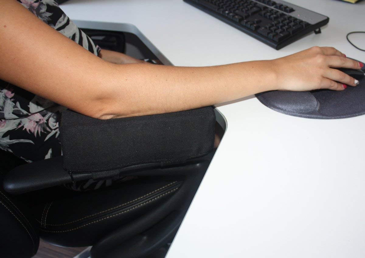 25/x 7/x 7/cm poggia-polsi per bracciolo in materiale viscoelastico Cuscino per bracciolo Rialzo per sedia da ufficio