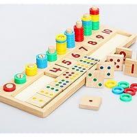 Juleya kurşun Zahlenkarten ve Zaehlstangen Kasten, Montessori Materialstoecke matematik malzeme çocuklar için pedagojik oyuncak R160227WJ0110-U