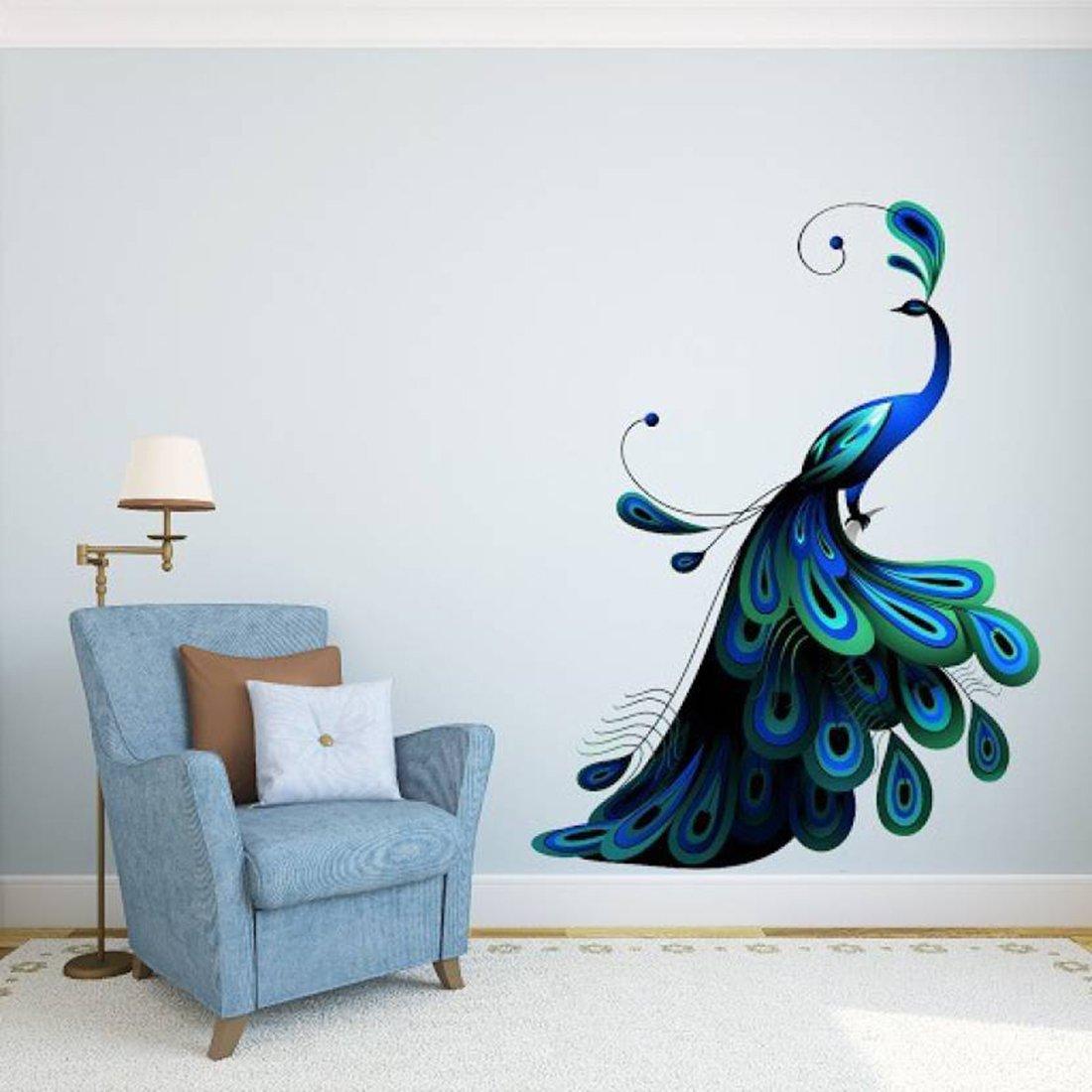 Peacock Bird: Wall Sticker Design