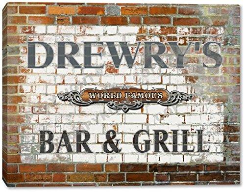 drewrys-world-famous-bar-grill-brick-wall-canvas-print-16-x-20