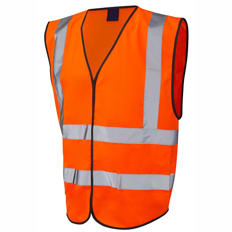 HuntaDeal Hi Viz VIS Vest Velcro High Visibility Reflective Waterproof Workwear Security Safety Wear Warm Gilet Waistcoat Waist Coat Vest EN ISO 20471 Class 1 Certified Plus Big Size