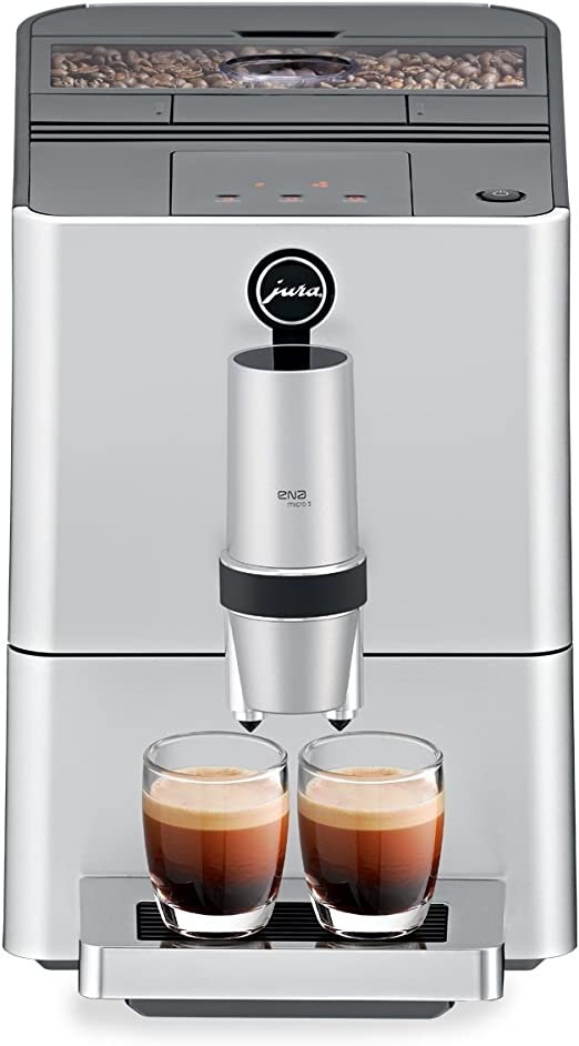 Jura 15106 ENA Micro 5 Automatic Coffee Machine, Silver