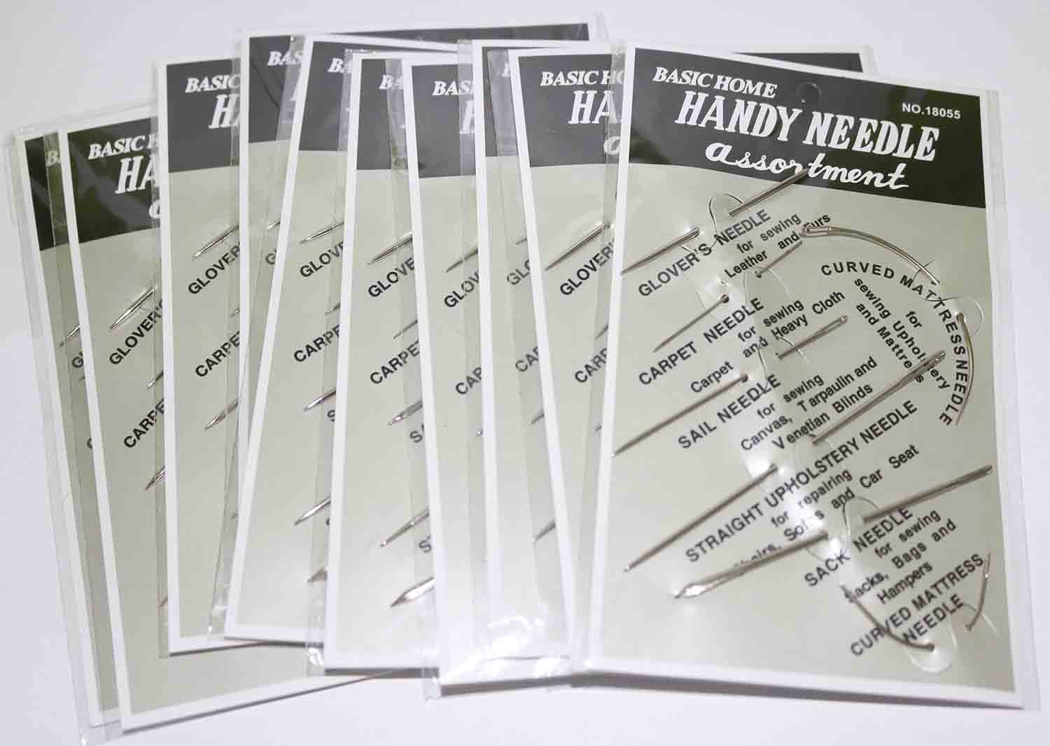 AMTION Stitching Needles Carpet Leather Canvas Repair Curved Hand Sewing Needles Kit 10 Pack 7pcs Per Pack