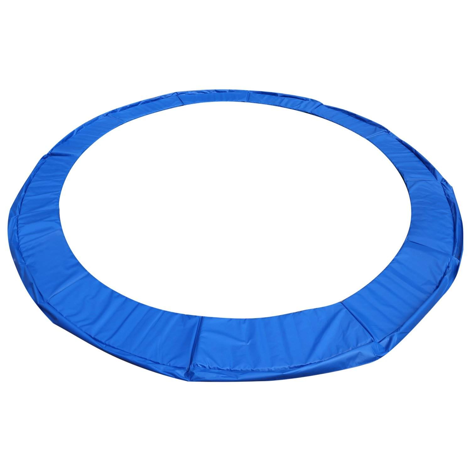 15 14 12 10 Ft Replacement Trampoline Surround PVC Pad Foam Safety Spring Cover Padding Pads (Blue, 15 Ft)