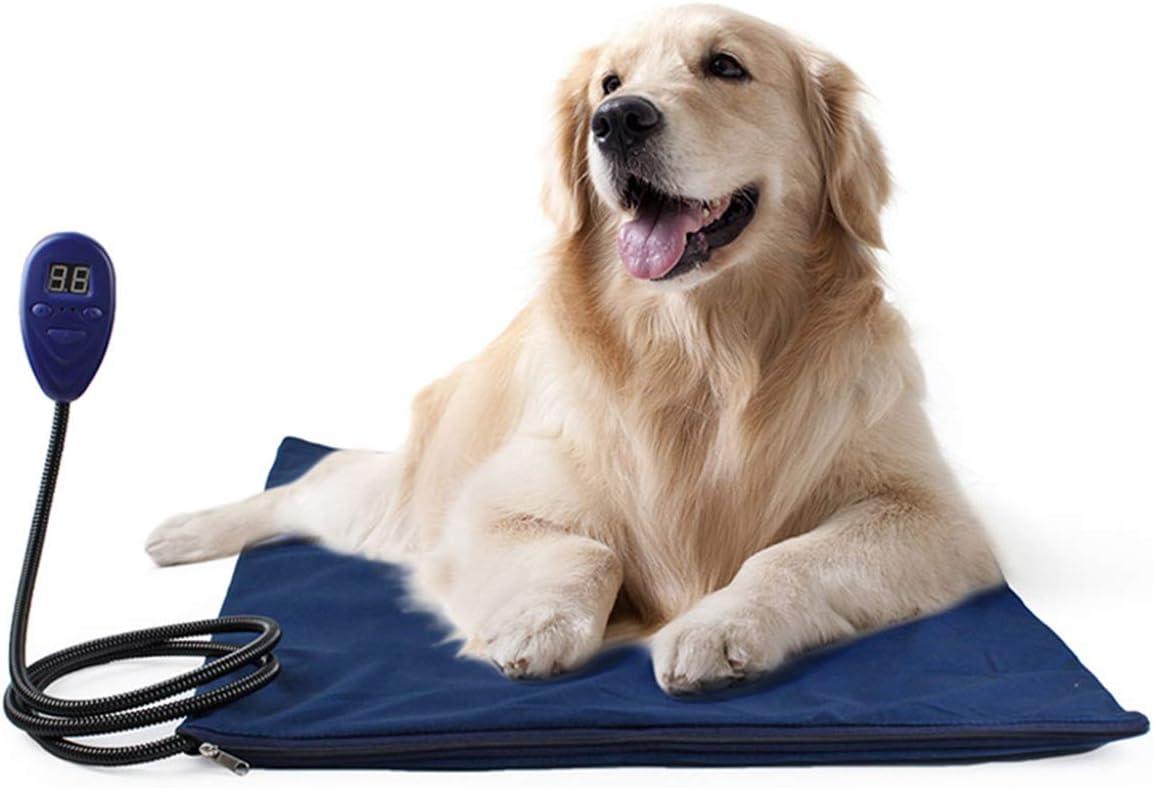 PETCUTE Manta Eléctrica para Mascotas Cojín de Calefacción para Perros Almohadilla Cama de Perro Alfombra electrica para Gatos Perros
