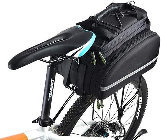 ZY Bolsa de Asiento Trasero para Bicicleta, Bolsa de Asiento de ...