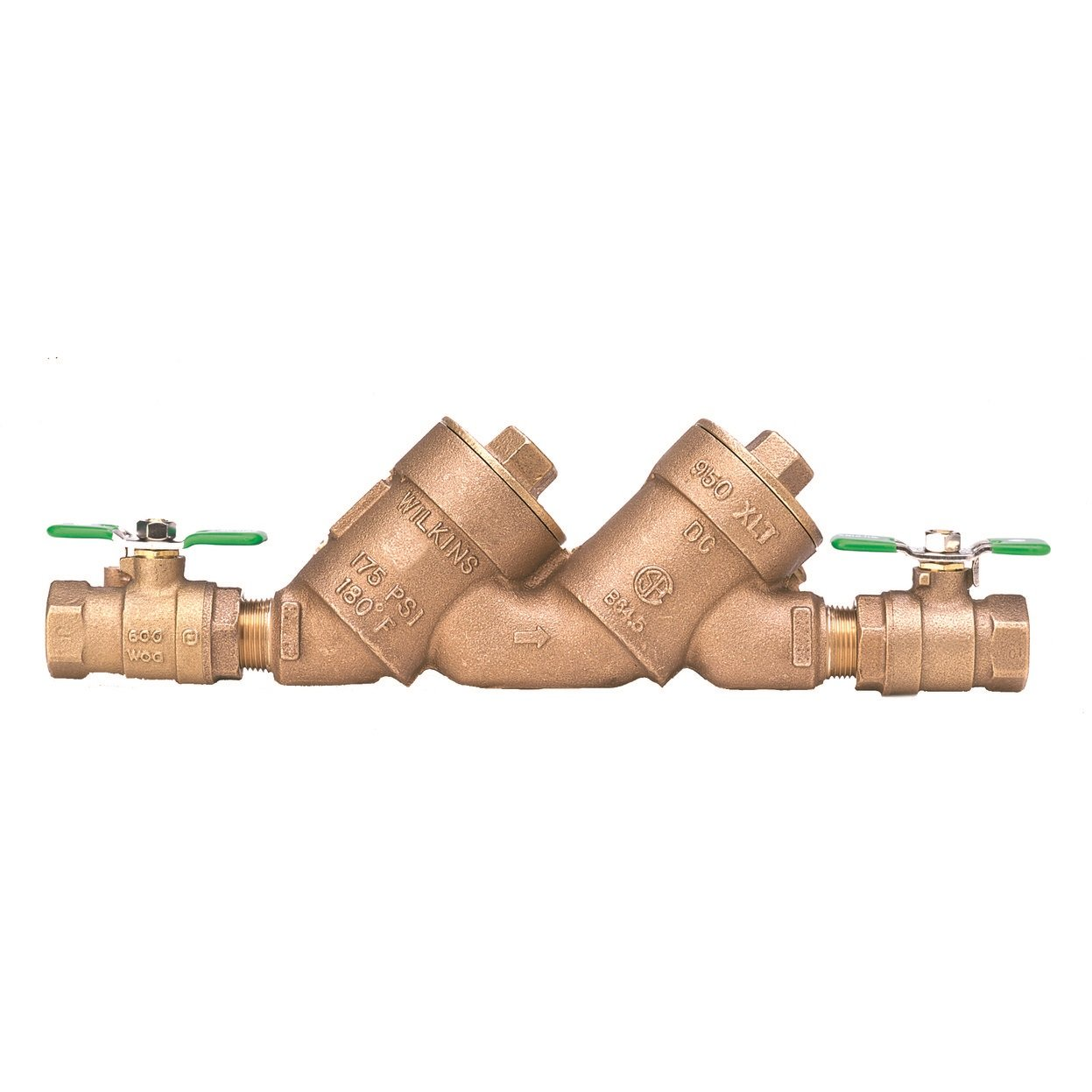 Zurn Wilkins 112-950XLT2 Lead Free FNPT Double Check Valve Backflow Preventer Assembly, 1.5 Inch