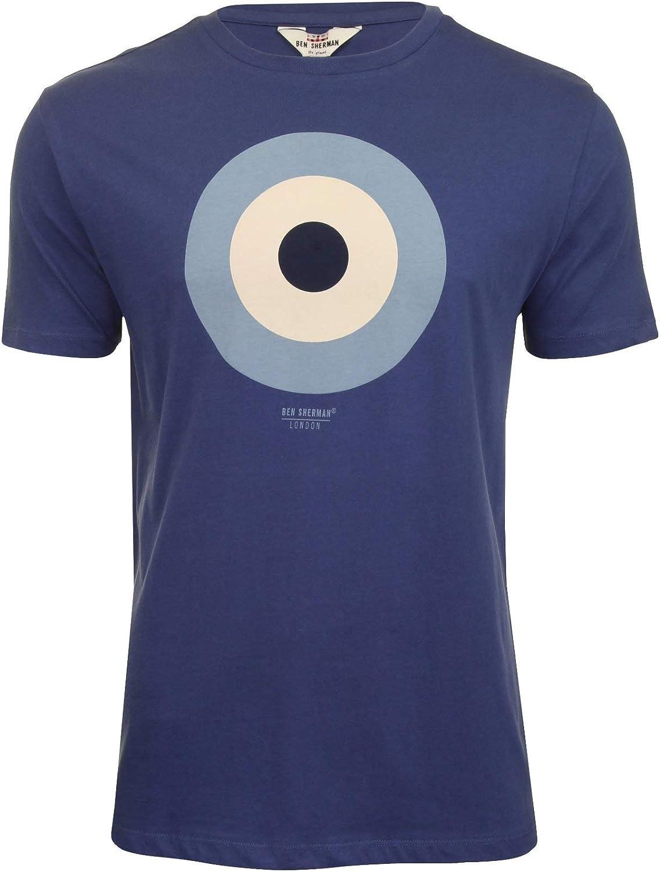Ben Sherman The Target Tee - Camiseta para hombre Azul azul cobalto M: Amazon.es: Ropa y accesorios
