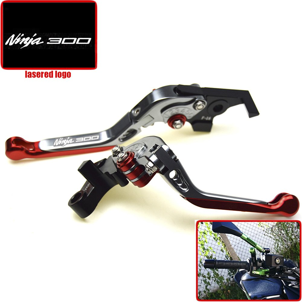 For Kawasaki NINJA 300R NINJA 300 2013-2016 2014 2015 CNC Motorcycle Brake Clutch Levers NINJA 300 Logo