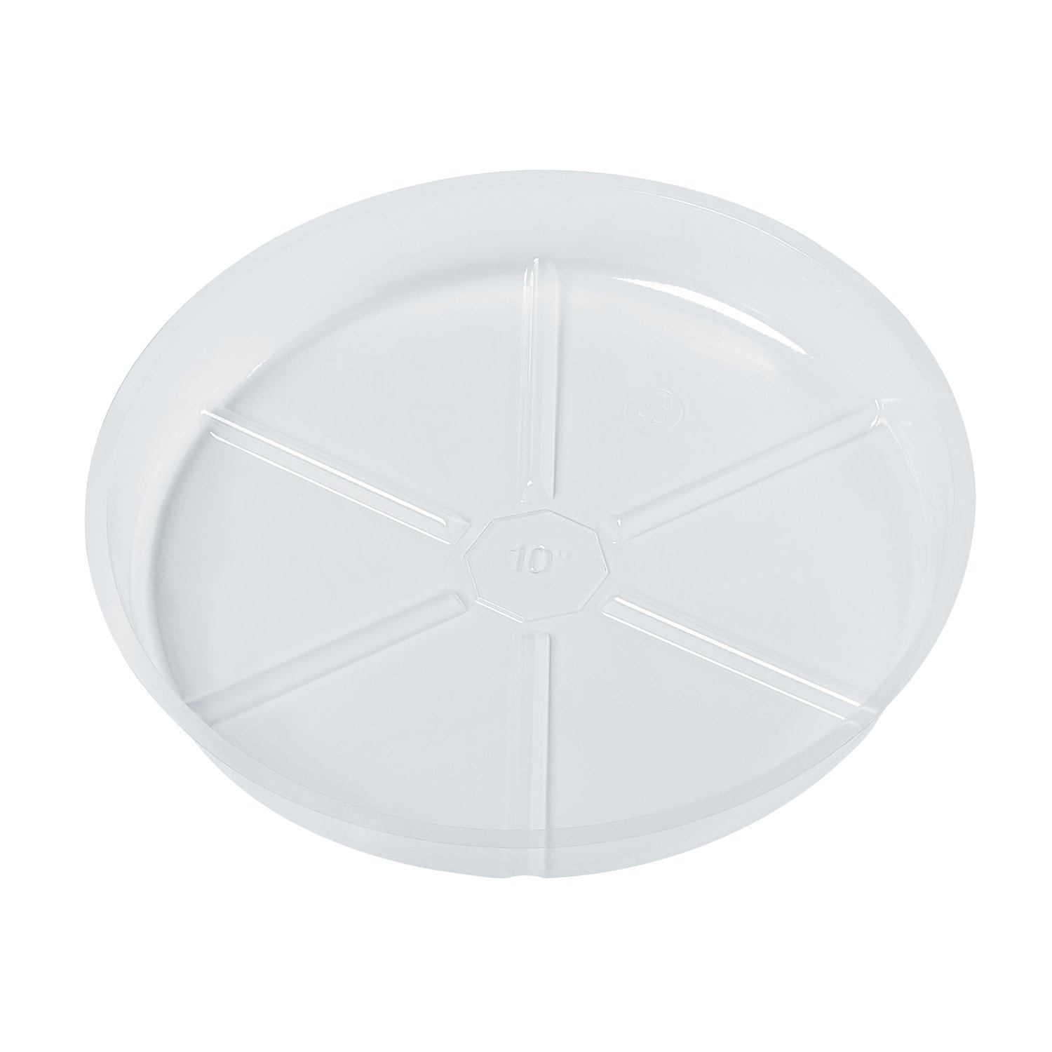10 Pack of 10 inch, Clear Vinyl Plant Saucers, Surface Protection for Household Plants (OBVS10'')