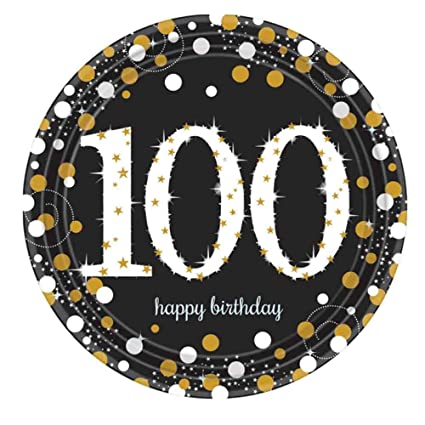 100th Birthday Party Paper Plates