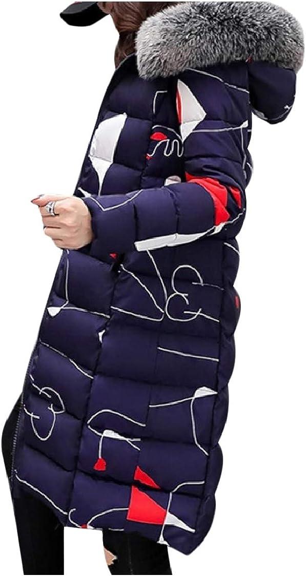 CuteRose Women Regular Fit Winter Reversible Fur Collar Overcoat Outerwear