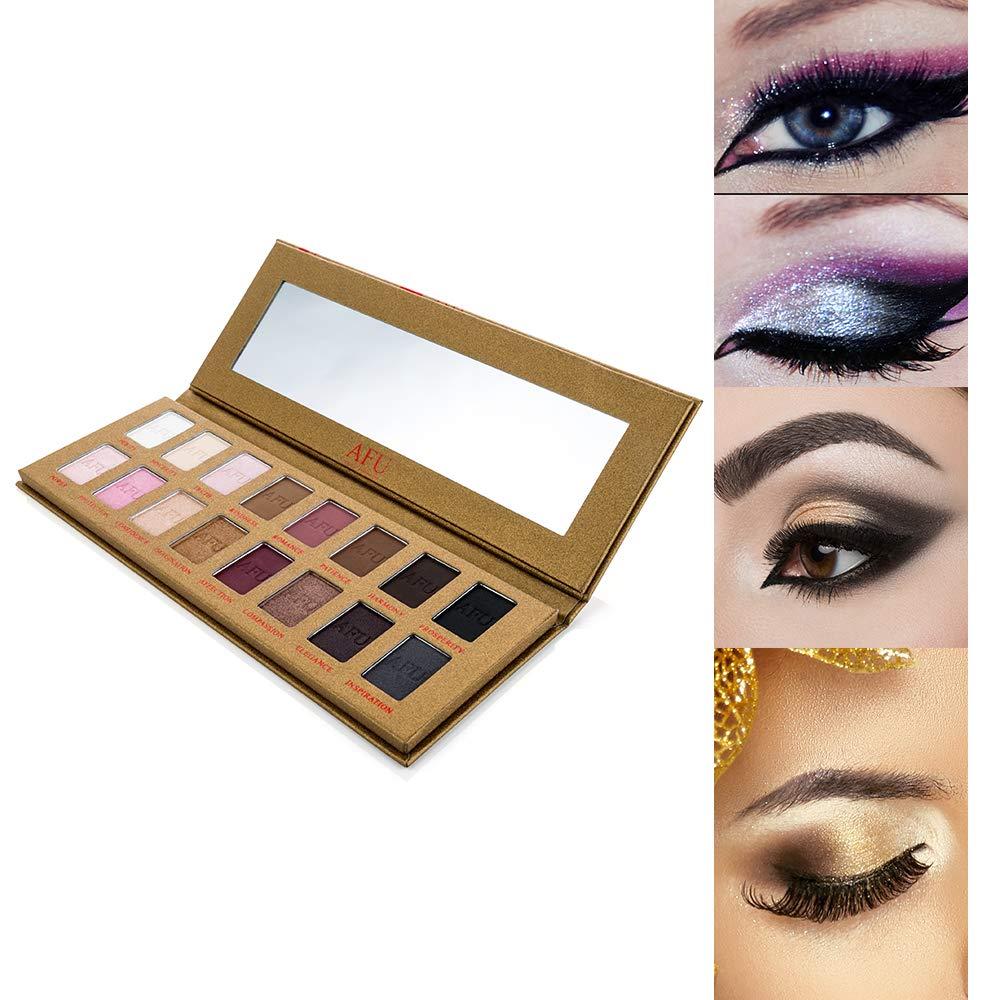 AFU 16 Colori Trucco Palette per ombretti Ombretti impermeabili Tono Cosmetic-Earth Bause