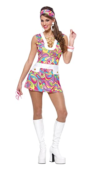 Hippie Costumes, Hippie Outfits Costume Culture Womens Groovy Chic Costume $47.99 AT vintagedancer.com