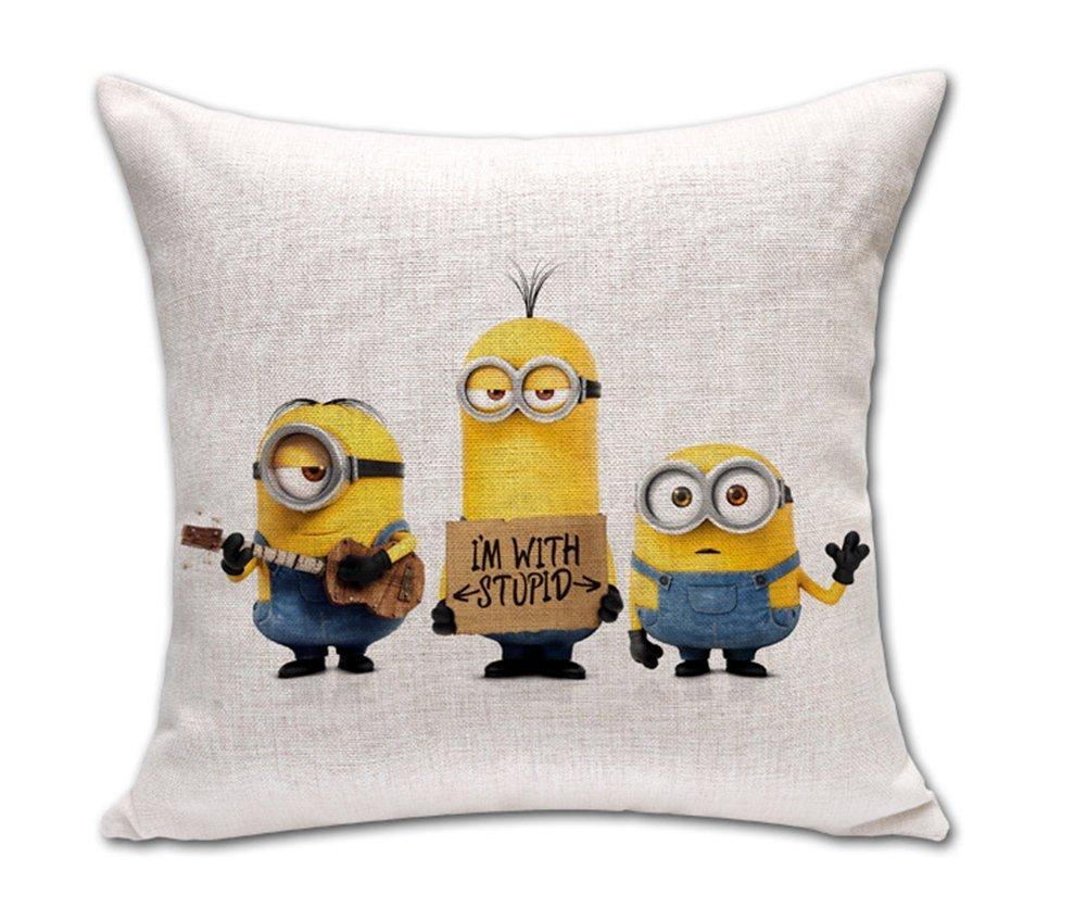 Amazon.com: Joutletshop GUZIDI Minions cotton Cushion Covers ...