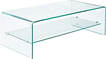 Amazon Com Christopher Knight Home Charlize Glass Coffee Table