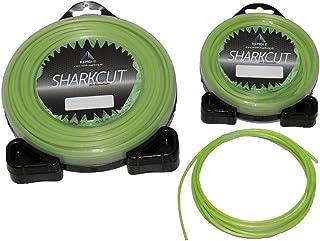Sharkcut - Filo per decespugliatore professionale, in alluminio, filo di nylon, filo di taglio rotondo 2,0 mm, diverse lunghezze