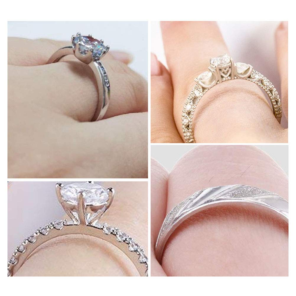 8 Size Invisible Transparent Ring Size Adjuster for Loose Rings Ring Guard Spacer Ring Size Reducer Fit Any Rings zuoshini Ring Adjuster Sizer