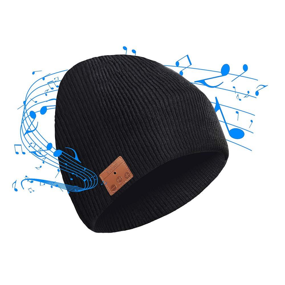 CyanCloud Bluetooth Beanie 5.0 Wireless Smart Hat Headphones Headset Knit Cap, Siri Voice Control, Built-in HD Stereo Microphone Speakers