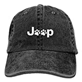 HU MOVR Cowboy Hat Jeep Dog Paw Plain Adjustable Denim Cap for Women and Men
