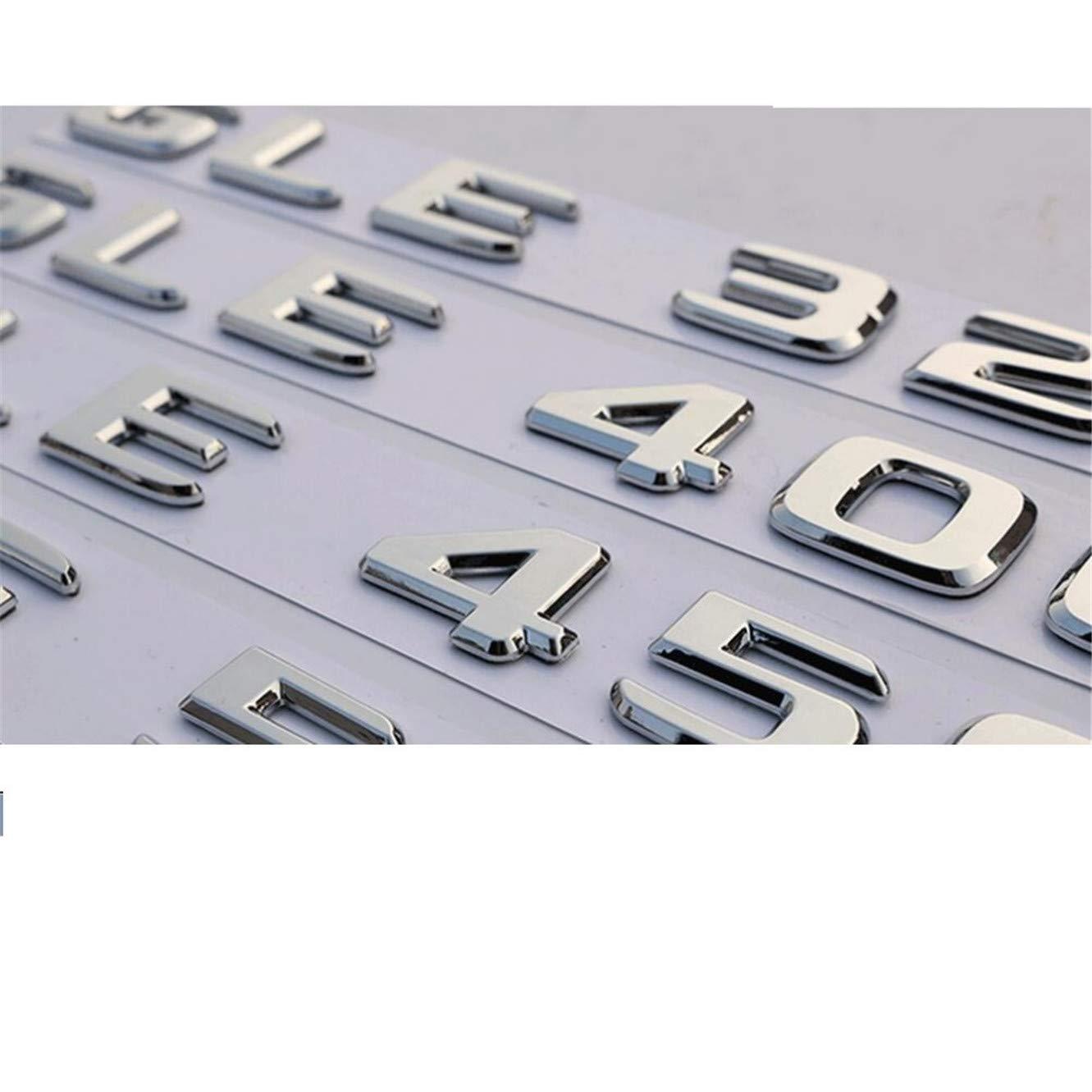 Toppa cromata ABS posteriore Stamm lettere distintivo emblema adesivo