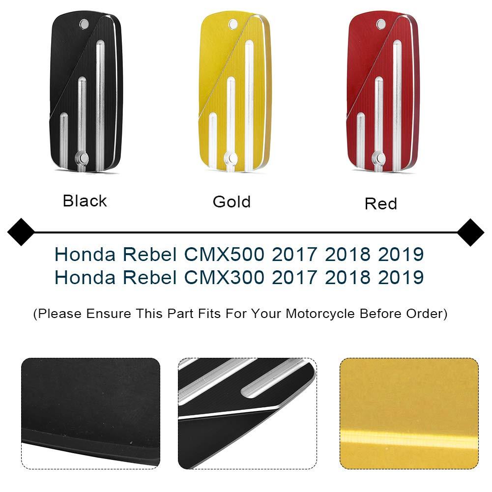 LoraBaber Motorcycle CMX500 CMX300 Tapa del cilindro del freno delantero Tapa del dep/ósito de l/íquido para Honda Rebel CMX 500 CMX 300 2017 2018 2019 Oro