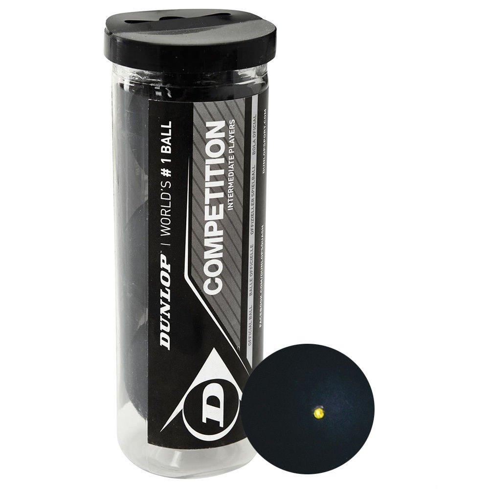 Dunlop Competition Squash Balls (3 ball tube)