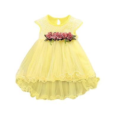 Süß Kleinkind Kinder Kleid Baby Mädchen Blumenmuster Freizeit Sommer Strandkleid