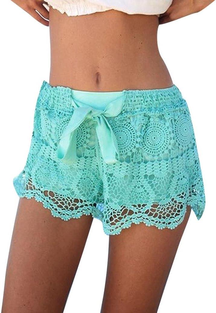 Lacy crochet summer shorts