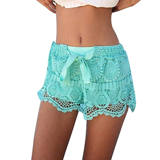 Amazoncom Jushye Clearance Womens Lace Shorts Summer Elastic