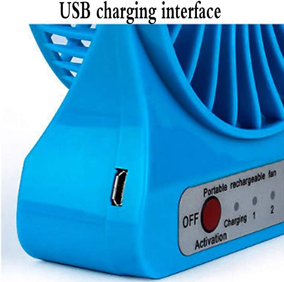 YWZQ Schreibtisch Ventilator Noiseless-USB-Ventilator, Lüfter mit verstellbarem Kopfdoppellüfterblatt 3 Geschwindigkeiten Mini Größe Desktop-Fan,Schwarz Green