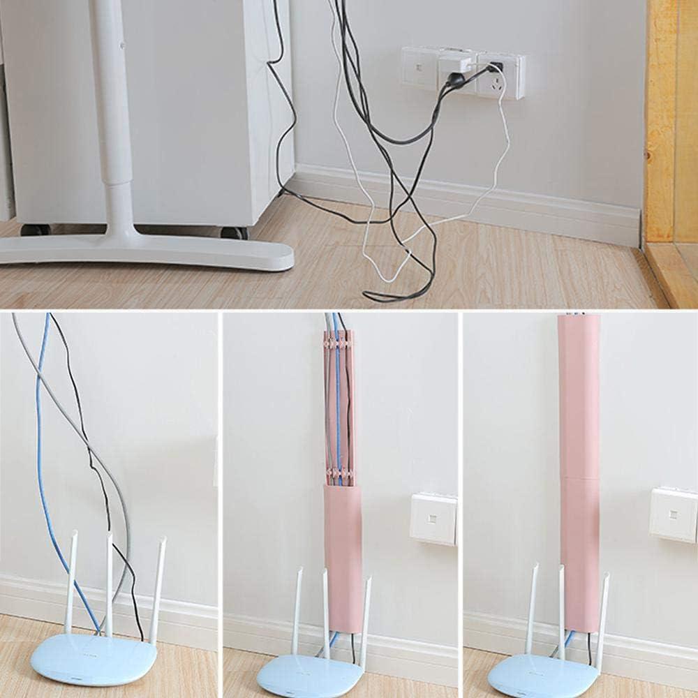 per casa e ufficio Verde. mini canalina autoadesiva per cavi KOBWA, sistema di gestione cavi e cavi da 30 cm