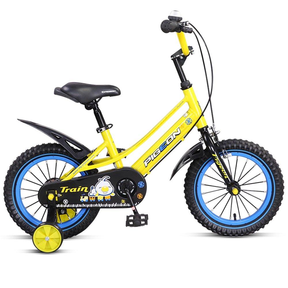 子供用自転車、アルミ合金フレーム、14/16インチの男性と女性のサイクリング、3-6歳の赤ん坊の誕生日プレゼント ( 色 : イエロー いえろ゜ , サイズ さいず : 16 inch ) B078KKLRPY 16 inch|イエロー いえろ゜ イエロー いえろ゜ 16 inch