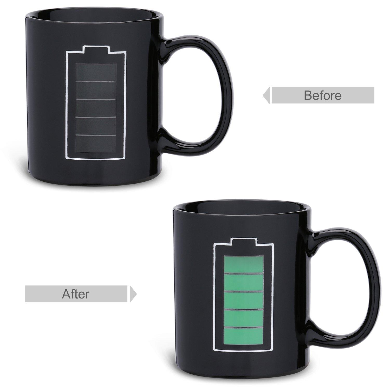 Batterie Incutex Tasse Chaleur Tasse Magique Qui Change de Couleur