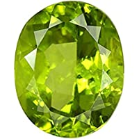 PARTH GEMSTONE 13.50 Ratti Certified Unheated Untreatet A+ Quality Natural Peridot Loose Gemstone for Women's and Men's