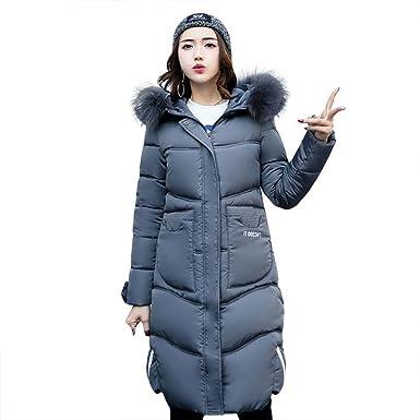 07aee1fb05a5c xueyuge Manteau Parka Femme à Capuche avec Fourrure Vetements Veste d'hiver  Long épais (