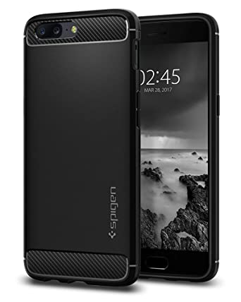 low priced 071ed c4644 Spigen Rugged Armor Works with Oneplus 5 Case (2017) - Black