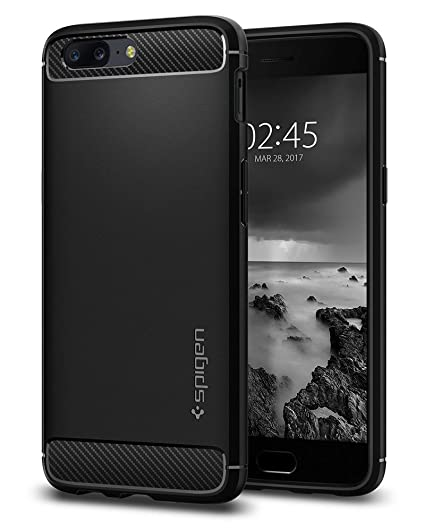 purchase cheap d3c36 daf7e Spigen Rugged Armor Designed for OnePlus 5 Case (2017) - Black