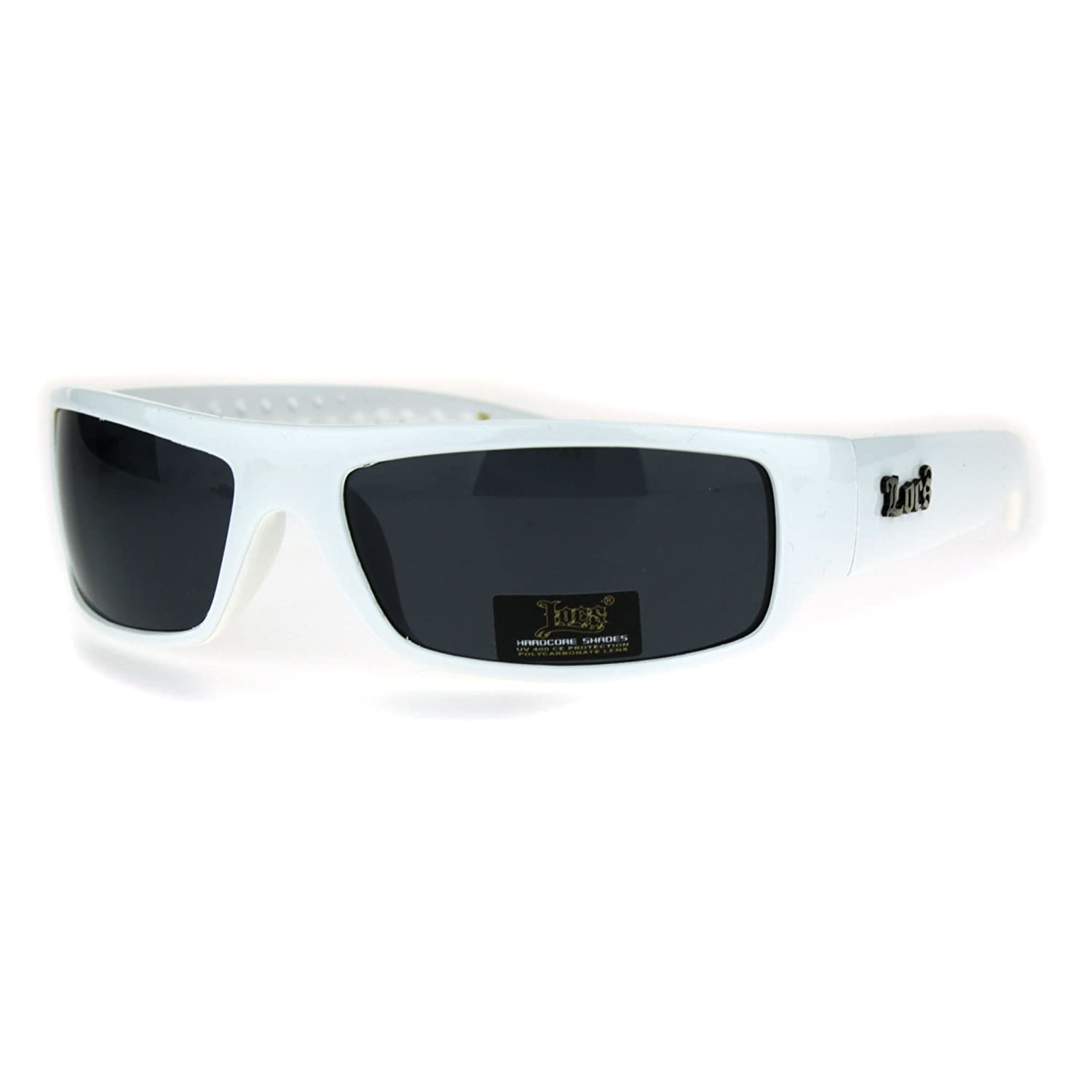 Locs Mad Dog Hardcore Gangster Cholo Narrow Rectangular Sunglasses lc9003-bk