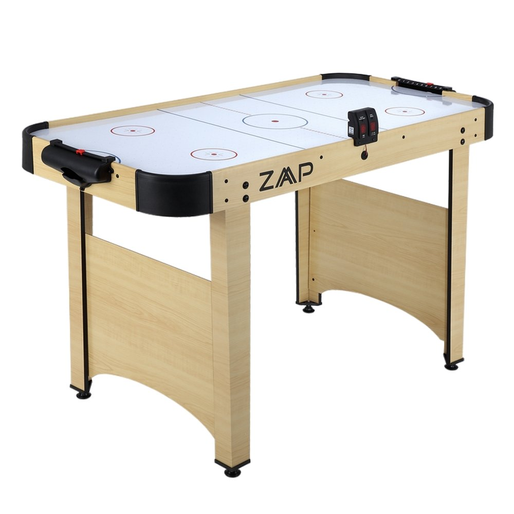 ZAAP Electric Ice Air Hockey Table with Electronic Scoring - 4 Foot with Full Height Legs - Pucks and Pushers Included