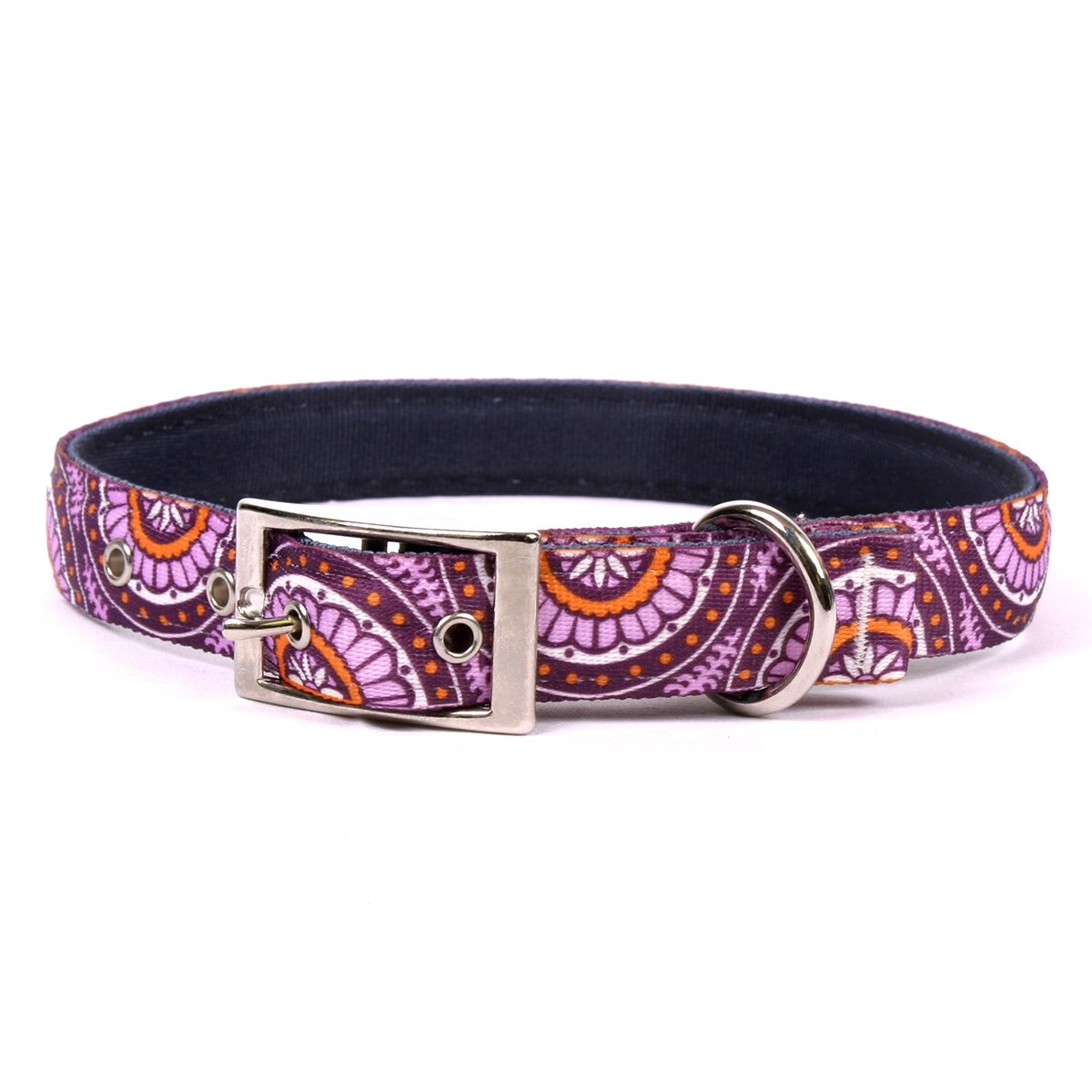 Yellow Dog Design Radiance Purple Uptown Dog Collar, Medium-1'' Wide and fits Neck Sizes 15 to 18.5''