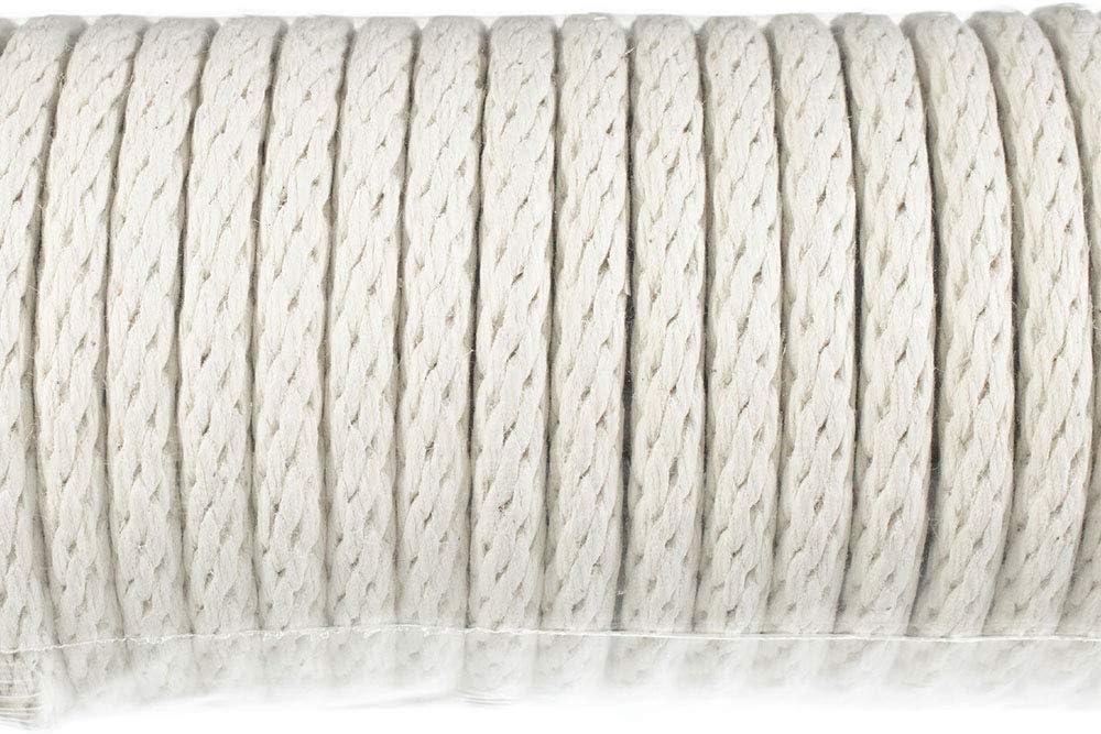 Durable Cordage Solid Braid Construction Cotton Sash Cord 1//4 Inch x 100 Feet