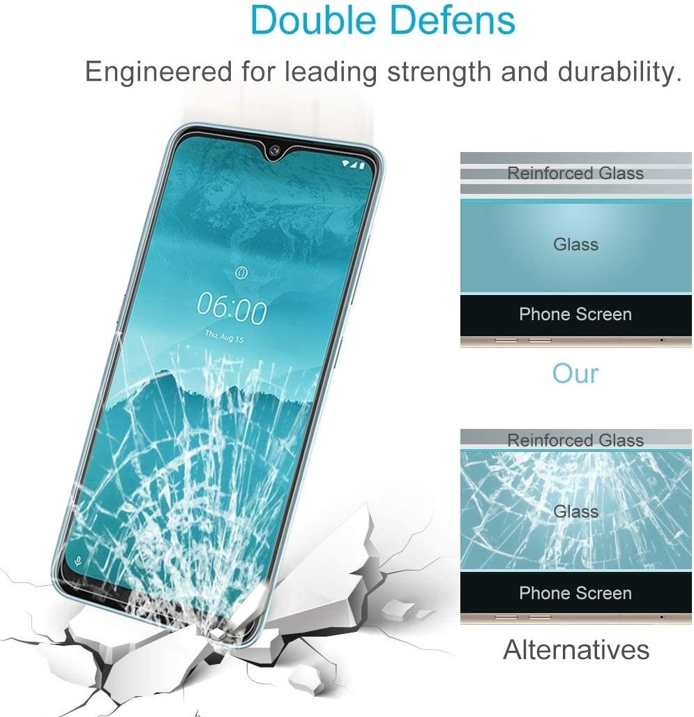 LGYD for 50 PCS for Nokia 6.2 2.5D Non-Full Screen Tempered Glass Film