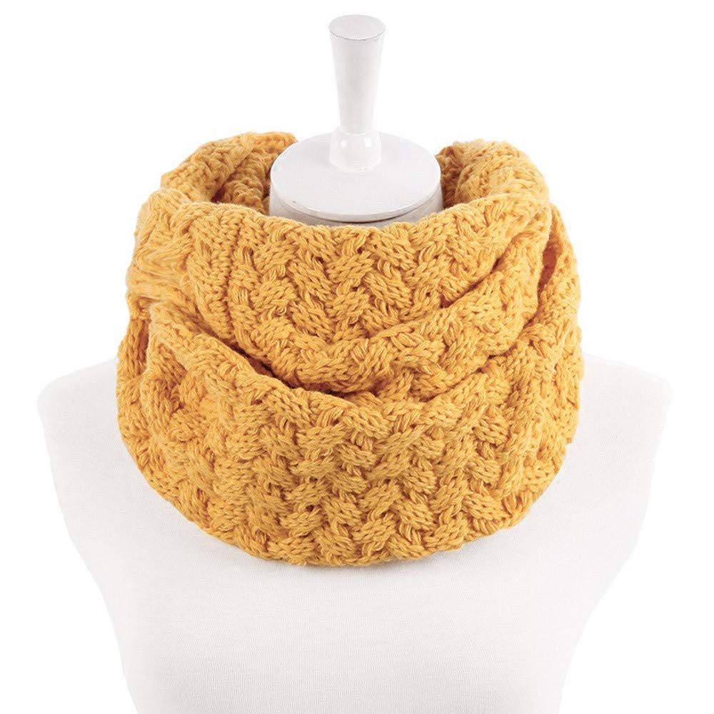 ☀ICE cream Women Men Warm Winter Knit Neck Circle Cowl Snood Multi-purpose Wrap Shawl Scarf