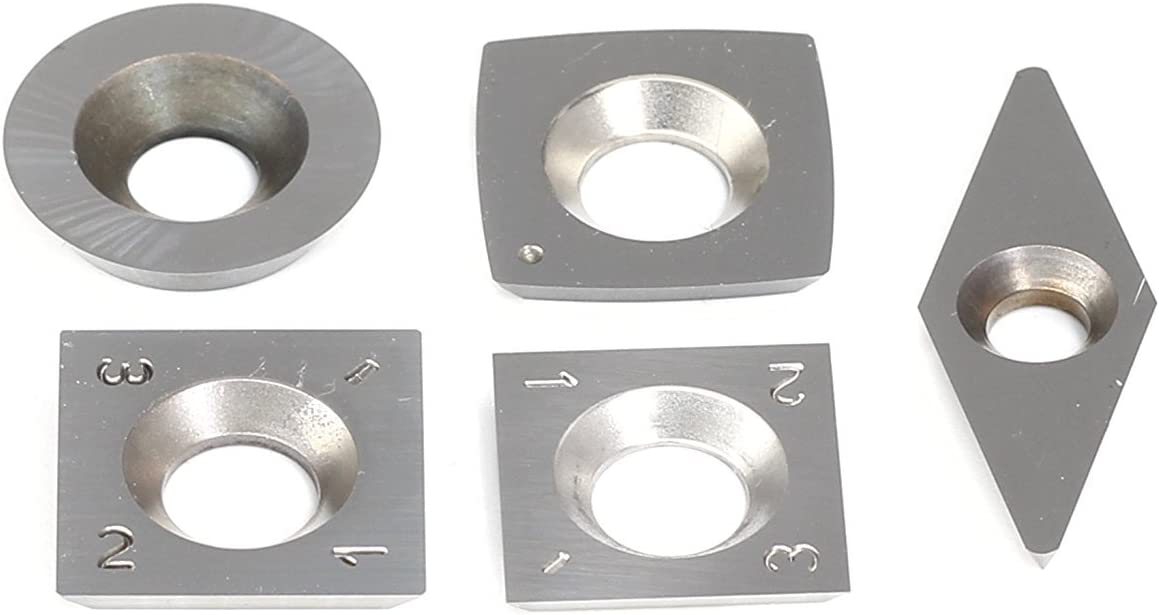 3x Tungsten Carbide Inserts Cutter Set to Wood Turning Working Lathe Tool Pack