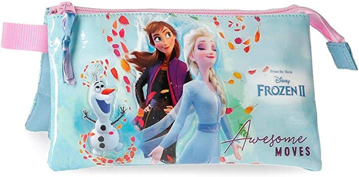 Frozen Awesome Moves Estuche Tres Compartimentos, Azul: Amazon.es: Equipaje