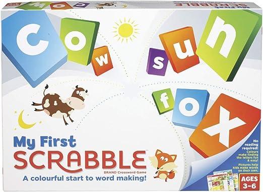 Mattel Games Mi Primer Scrabble (versión Inglesa): Amazon.es: Juguetes y juegos